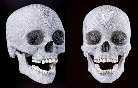Probably the most well known recent example of skull art working with this