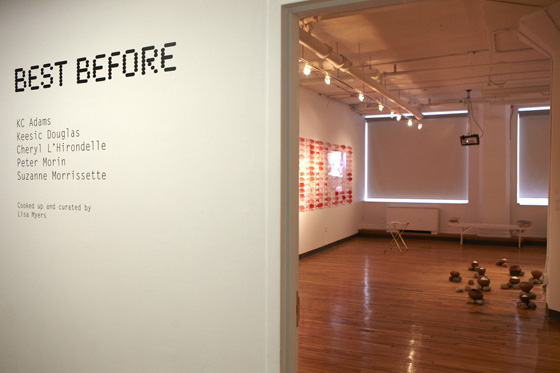 Best Before exhibition, installation view