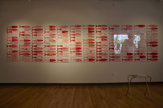 Peter Morin's installation, Salmon and Bannock