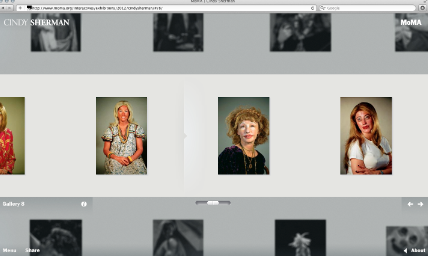 The website for photographer Cindy Sherman's MoMA Retrospective.